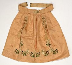 1838 apron, French,