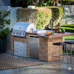 außenküche selber bauen natursteine eingebaute küchengeräte grill