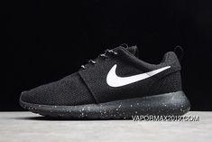 Nike Roshe Run - Black Dark Charcoal - Black Pink Fluo