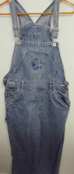 #Disney #Winnie the #Pooh #Tigger Blue Denim Bib Overalls Women's Size #Small.