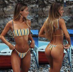 2019 New Bikini Set Women Swimwear Push Up Padded Brazilian Beachwear Biquini Swimsuit Women Bathing Suit - Sports & Outdoors Bikini Sexy, Bikini Girls, Thong Bikini, Women Bikini, Bikini Babes, John David, Bikinis, Swimwear, Two Piece Bikini