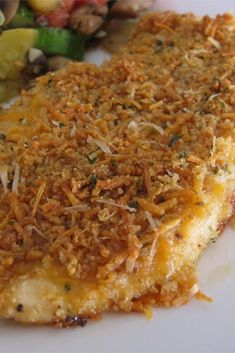 """Garlic cheddar chicken """"chicken breasts dipped in garlic butter and ch Turkey Dishes, Turkey Recipes, Meat Recipes, Chicken Recipes, Cooking Recipes, Healthy Recipes, Dinner Recipes, Paleo, Bon Appetit"""