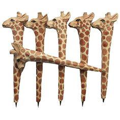 MoralBelief Creative Hand Carved Wooden Giraffe Cartoon Animal Art Neutral P...