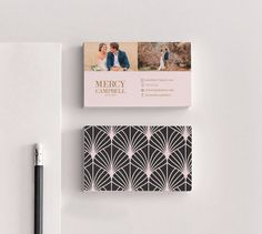 Mercy double sided elegant photography business card  by Deidamiah