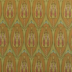 Arts and Crafts Style Floral Wallpaper in Natural | Bradbury Thistle