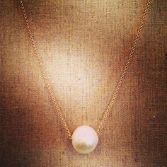Cotton Pearl Necklace - Beautiful and dainty cotton pearls are very rare.  Available in gold or silver. - $24.00