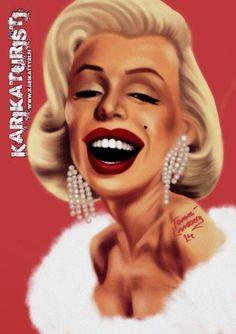 Caricature of Marilyn Monroe. Made by Ipad. Marilyn Monroe Art, Art Boards, Ronald Mcdonald, Halloween Face Makeup, Mac, Deviantart, Cartoon, Celebrities, People