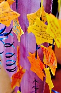 Children's Ministry Prayer Stars: I love this idea! Prayer Stars can be cut from foam (or colored paper) and glued back to back over curling ribbon.
