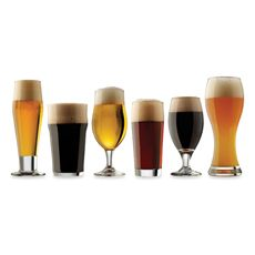 Craft Brew Beer Tasting Glasses (Set of 6)