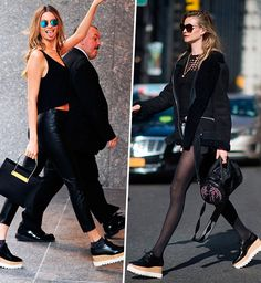 behati prinsloo ama esse sapato! se apaixone também Hollywood Fashion, Behati Prinsloo, Kate Bosworth, Stella Shoes, Oxford Platform, Platform Shoes, Kourtney Kardashian, Stella Mccartney Shoes, Oxford Shoes Outfit