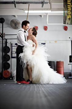 CrossFit Wedding Bliss <3 reebok crossfit nanos would be a requirement, as crossfit was how we met.