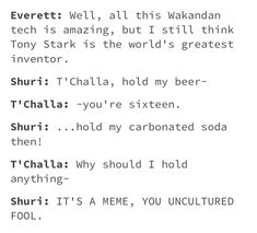 Thus why Shuri is my new favorite character in the mcu