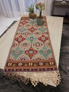 Cross Stitch Embroidery, Cross Stitch Patterns, Palestinian Embroidery, Cross Stitch Love, Needlepoint Designs, Bohemian Rug, Rugs, How To Make, Handmade