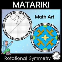 Integrate maths (geometry), art and Matariki with this one activity. A super-fun activity for celebrating the Maori New Year. Use the grid lines to draw the design in the empty sections of the circle. There are 2 different templates for your students to use, depending on their Symmetry Math, Rotational Symmetry, Teach Kids To Draw, Goal Setting Template, New Zealand Art, Art School, School Ideas, Math Art, Teaching Math