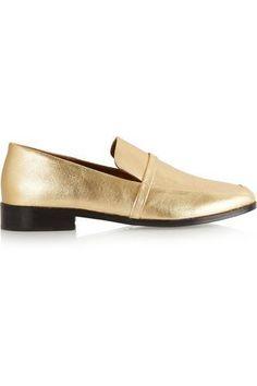 Melanie metallic leather loafers #slipons #covetme #newbark