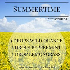 Diffuse this blend of essential oil for a fresh summertime feel!