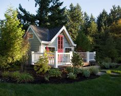 white fence garden - Google Search