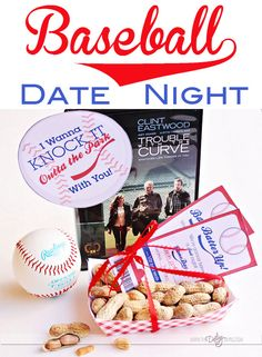 Fun printables and ideas for a baseball movie date night. LOVE it! The after game party ideas are hilarious!  www.TheDatingDivas.com #datenight #printable #baseball