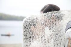 hand knit veil