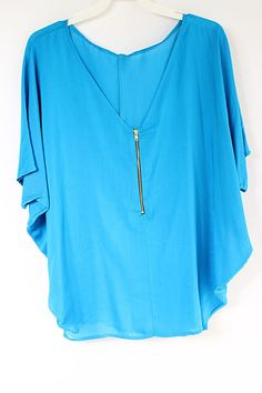 blue silky tunic <3