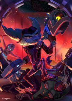 Ratchet & Clank, ✖️rumblevolt ✖️ on ArtStation at https://www.artstation.com/artwork/3aw5E