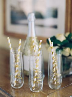 Wedding Champagne Flutes - Personalized for your bridesmaids - Photography: Gianny Campos Photography - www.giannycampos.com   Read More on SMP: http://www.stylemepretty.com/2016/10/13/pastel-blogger-wedding/