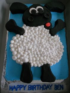 Sheet cake with BC frosting. Head and limbs are RKT covered in fondant and belly just BC First Birthday Parties, Birthday Cakes, First Birthdays, Birthday Ideas, Timmy Time, Cupcake Cakes, Cupcakes, Fondant Icing, Let Them Eat Cake