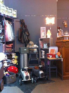 Pois Plume shop, kids store. Chambre d'enfants. Visual merchandising
