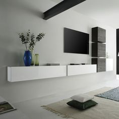 ) The post Wohnwand Como VII tlg.) appeared first on Wohnen ideen. Wall Unit Designs, Tv Wall Design, Ikea Tv Unit, Modern Wall Units, Muebles Living, Closet Layout, Tv Furniture, Living Room Tv, Home Remodeling
