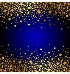Blue background with gold confetti Royalty Free Vector Image