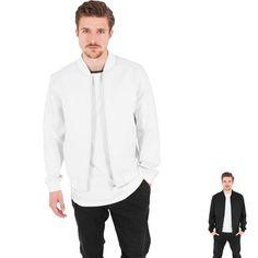 Neopren Zip Jacket von Urban Classics in schwarz oder weiß! #fashion #style #neopren #jacket #urban #urbanclasssics #black http://rudestylz.de/neopren-zip-jacket.htm
