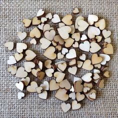 100PC Wooden Love Heart Table Decor Personalised Rustic Wedding Favours Confetti #Unbranded