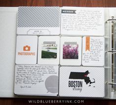 Project Life Week 16 Using Midnight Edition by Paislee Press.