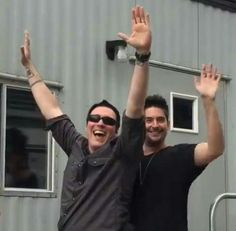 Ben and Shawn, cuties. Breaking Benjamin, Burnley, Movie Photo, Say Hi, Coming Out, Cool Bands, My Music, Songs, Rock Stars