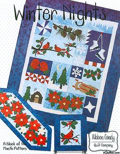 Winter Nights -  Pattern by Ribbon Candy Quilt Company