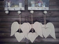 fabric shape- romantic hearts and angel wings , cottage shic,shabby shic, christmas decor https://www.etsy.com/listing/167509367/set-of-6-diy-fabric-shape-romantic?ref=listing-shop-header-3