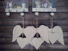 fabric shape- romantic hearts and angel wings , cottage shic,shabby shic, christmas decor https://www.etsy.com/listing/167509367/set-of-6-diy-fabric-shape-romantic?ref=listing-shop-header-3