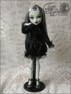 Monster High Gothic Black Ruffle Custom Dress Outfit