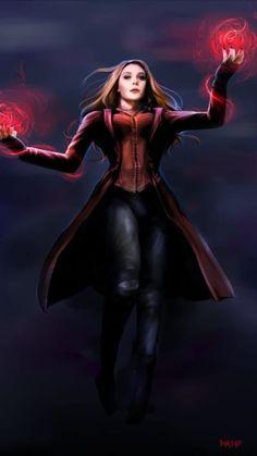 Drawing Marvel Comics Scarlet Witch by - Marvel Comics, Marvel Dc, Captain Marvel, Marvel Women, Marvel Girls, Scarlet Witch Avengers, Scarlet Witch Comic, Wanda Marvel, Avengers Cartoon