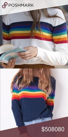 ISO: Subdued Rainbow Sweater size M/L ISO not for sale. would also consider the blue version! subdued Sweaters Crew & Scoop Necks