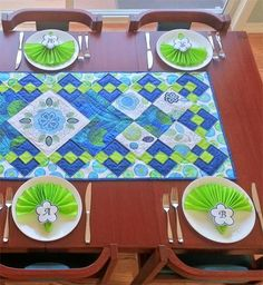 Photo: Check the awesome remix on our Ecco Table Topper! Get the how-to from WeAllSew: http://weallsew.com/2014/09/01/ecco-table-runner/