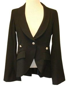 Union of Angels : Black Riding Jacket With Bell Sleeves  Beautifully Tailored!
