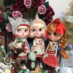 #Christmas #artistteddydear #Christmaswreath #outfit #Blythe #customBlythe #ooakBlythe #doll #dollstagram #blythestagram #beautiful #kawaii #cute ✨✨もうすぐクリスマスなんだね‼今年はママ用意するの遅いよね‼ タタタッ!!≡≡≡ヘ(*-ω-)ノ急いでいます