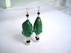 Earrings chandelier Fata Morgana polymer by APosteriorijewelry