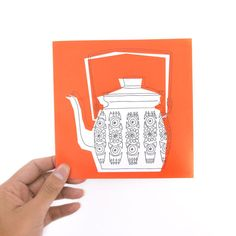 """Greeting Card - """"Little Red Teapot"""""""
