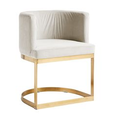 Polsterstuhl Lounge dinner chair cremeweiß von Nordal, 610,00 &
