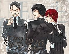 I really like this. Grell holding both cups of coffee, instead of just his. He probably brought them both but Will won't take his. Will was obviously the one getting the orders or whatever, Grell ignoring the supervisor completely. And Will was probably intentionally ignoring Grell leaning on him. I just wonder what's happening in this.