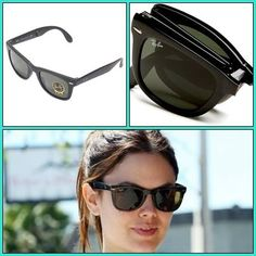 Hollywood Celebrity Rachel Wearing Ray ban Folding Wayfarer Sunglasses,Rachel's face must be tiny - makes sense since she's such a tiny girl!  http://www.fashionscot.com/Products/Unisex-Unisex-Eyewear-Unisex-Sunglasses/RayBan--/Ray-Ban-Sunglasses-Wayfarer-Polarized-RB4105/pid-2630843.aspx