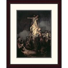 Global Gallery 'Descent from the Cross' by Rembrandt Van Rijn Framed Painting Print Size: