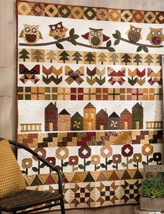 I love this Row by Row quilt
